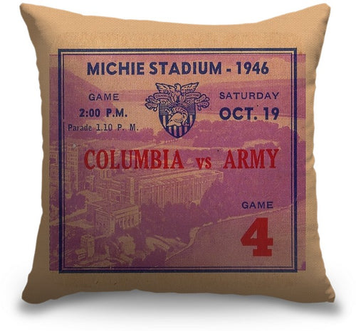1946 Army vs. Columbia Vintage Ticket Pillow
