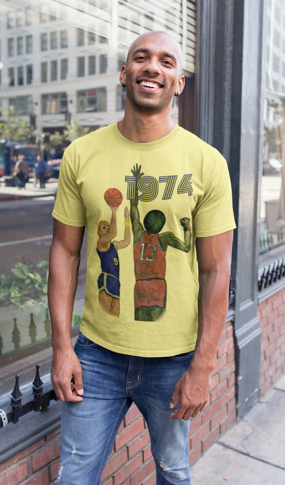 1974 Retro Basketball Tee by Coolstub™
