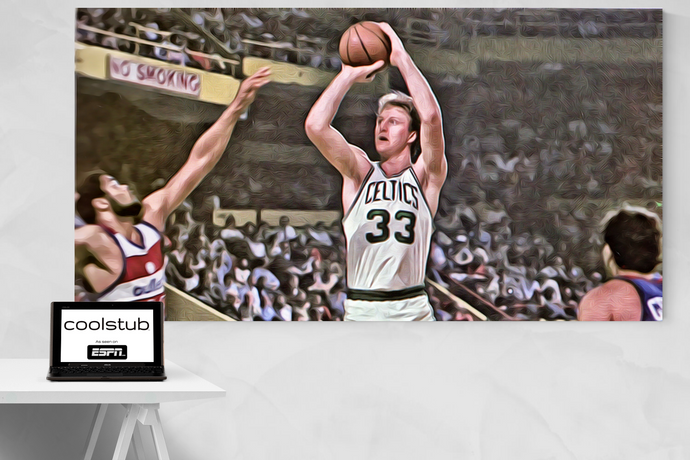 1982 Boston Celtics Art: Larry Legend