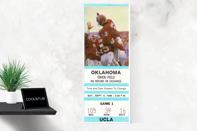 1986 UCLA vs. Oklahoma Sooners Ticket Art