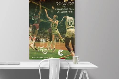 '81 Boston Celtics Program Canvas
