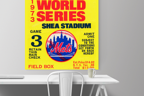 1973 World Series Ticket Canvas