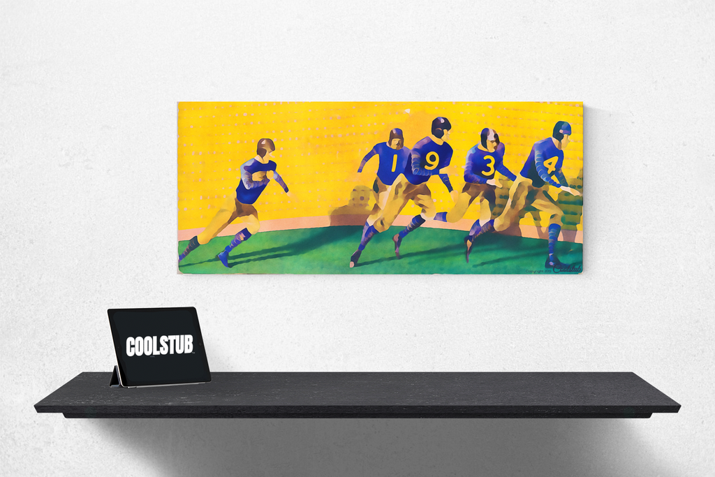 1934 Hustle: Vintage College Football Art by Coolstub™
