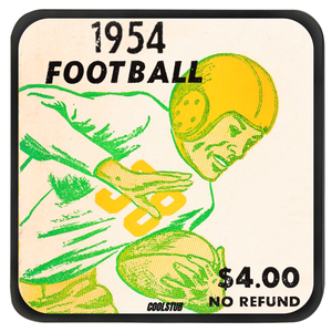 1954 Football Ticket Coasters