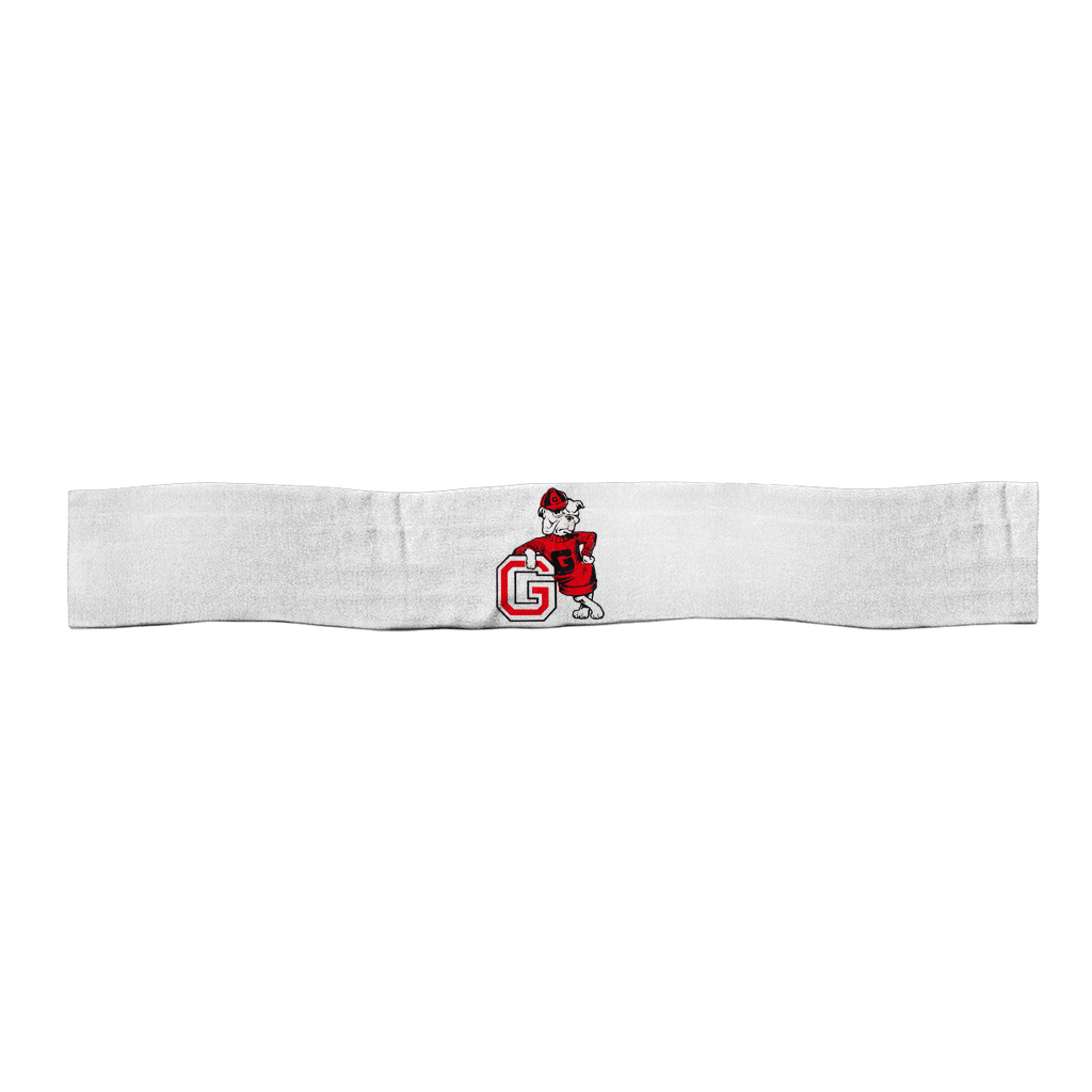 1950's Vintage Georgia Bulldog  Satin Sports Scarf