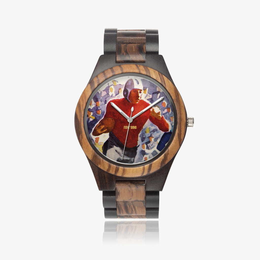 Vintage Football Wooden Watch