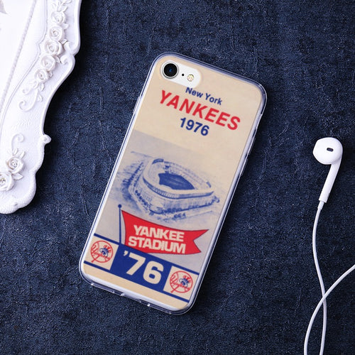 1976 New York Yankees Bumper Soft and Premium Flexible TPU Cover Case for iPhone 7 /iPhone 8