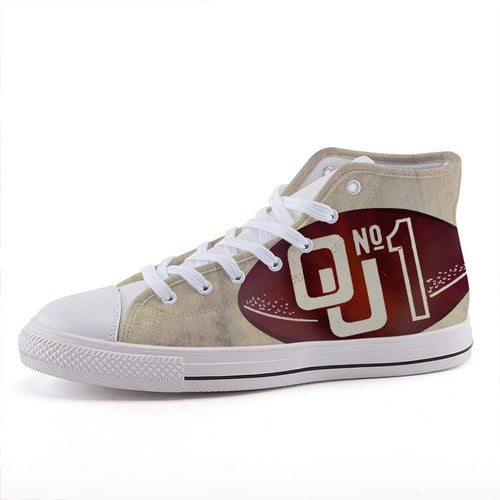 High-Top Fashion Canvas Shoes Oklahoma Number 1