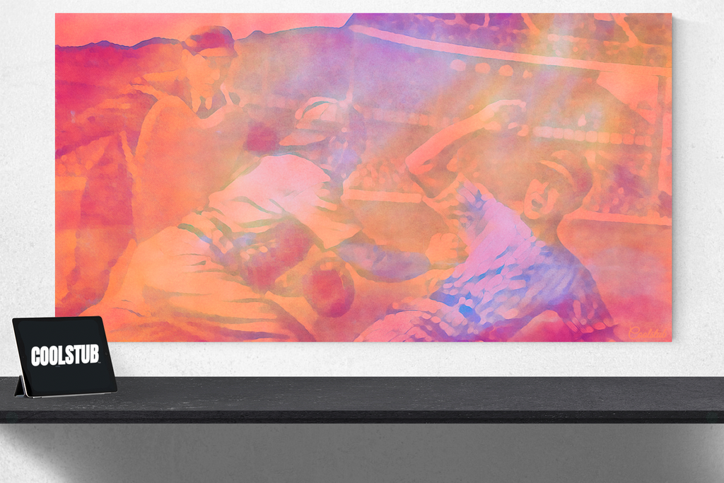 baseball watercolor canvas art | 1948 Baseball Slide