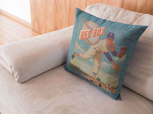 1955 Boston Red Sox Scorecard Pillow