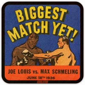 1936 Biggest Boxing Match Yet: Joe Louis vs. Max Schmeling  Birch Wood Coasters