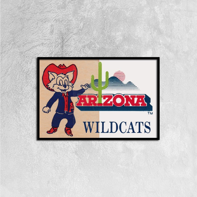 Arizona Wildcats Canvas Print Wall Art for Home Decoration Stretched ...