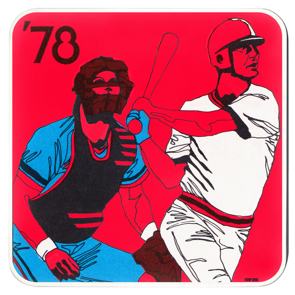 1978 Baseball Art Drink Coasters by Row One Brand