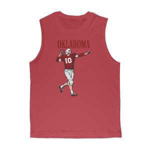 1950's Oklahoma Football Quarterback Classic Adult Muscle Top