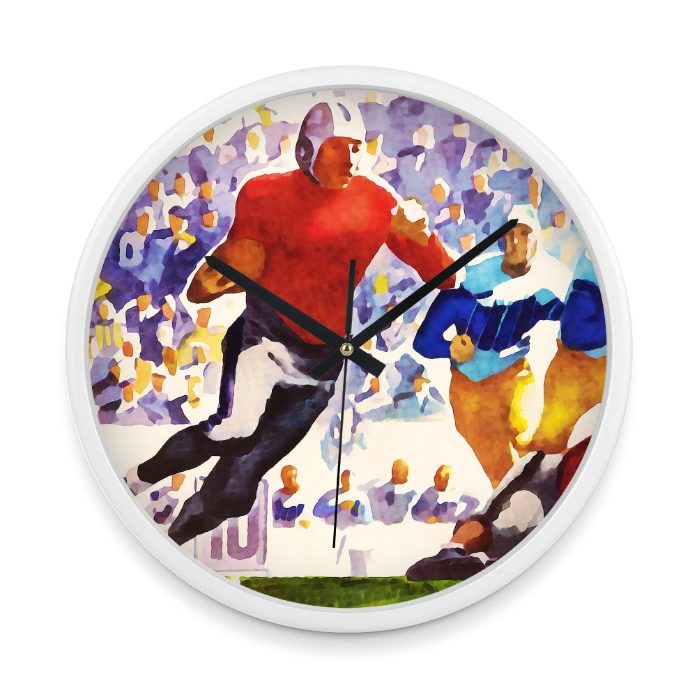 """Touchdown Sweep"" Coolstub™ 1937 Football Art Clock"