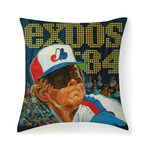 1984 Montreal Expos Multisized Premium Microfiber Fabric Throw Square Pillow High Elastic Polypropylene Cotton Insert