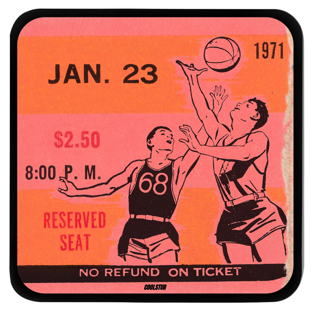 Basketball Ticket Stub Coasters (1971)