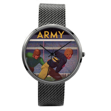 Load image into Gallery viewer, 1934 Army Football Quartz Fashion Watch With Black Stainless Steel Band