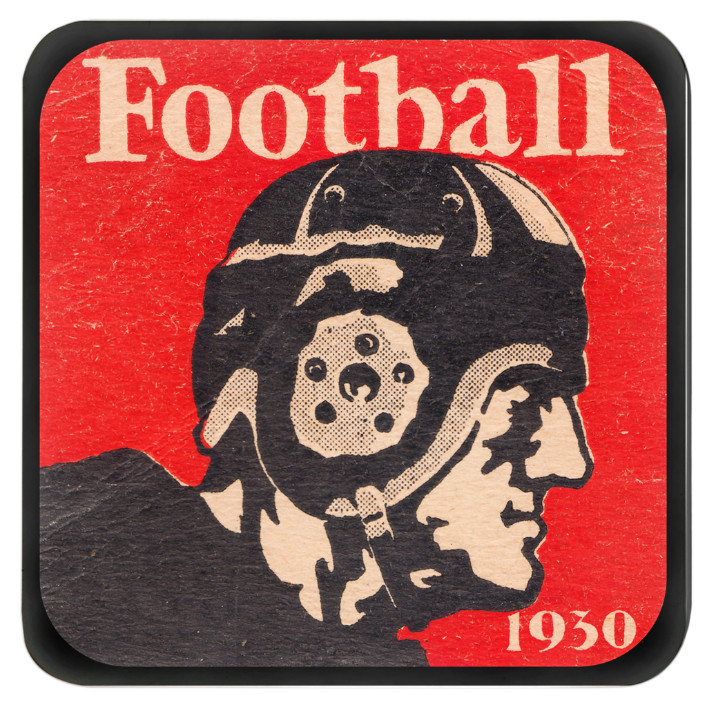 1930 Vintage Football Drink Coasters