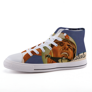 Coolstub™ 1957 Football Quarterback High-top fashion canvas shoes