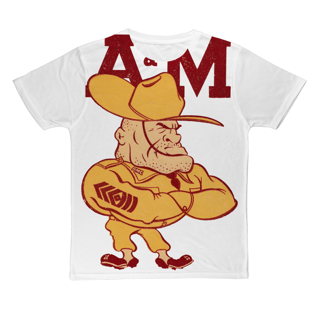 1950's Texas A&M Ol' Sarge Classic Sublimation Adult T-Shirt
