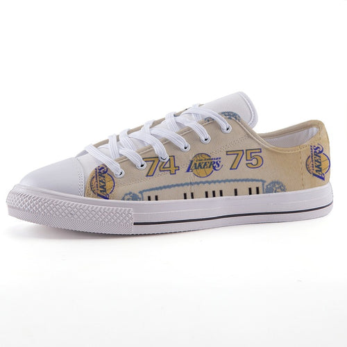 1974 Los Angeles Lakers Low-Top Fashion Canvas Shoes