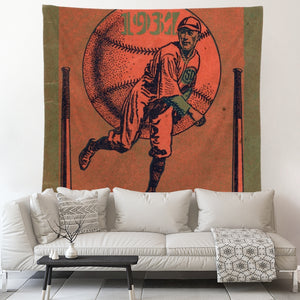 1937 Baseball Art Tapestry by Coolstub™