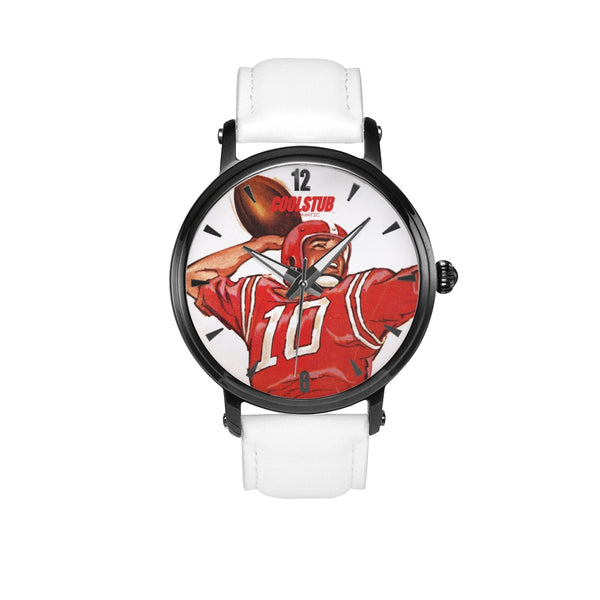 '59 QB Star Watch (White Leather)