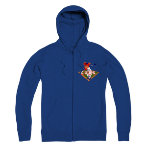 1950's Chicago Cubs  Premium Adult Zip Hoodie