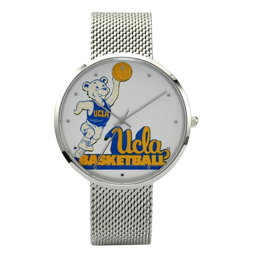 1980 UCLA Bruins Basketball Fashion Watch With Casual Stainless Steel Band