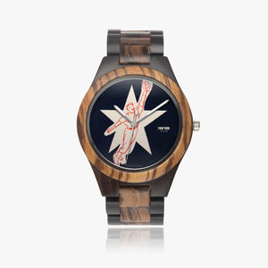 baseball watch face design wooden watch by Row One Brand
