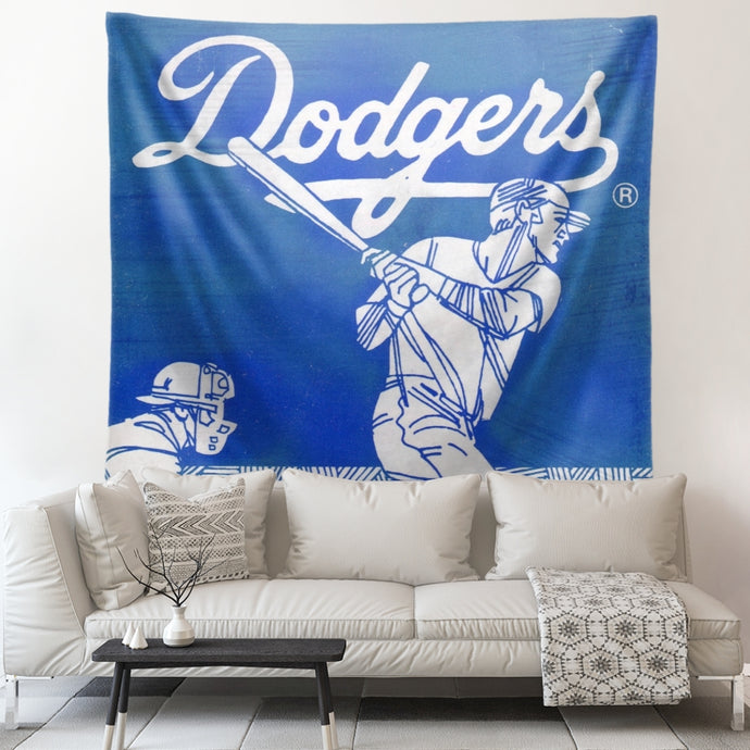 1970's Los Angeles Dodgers Baseball Art Tapestry