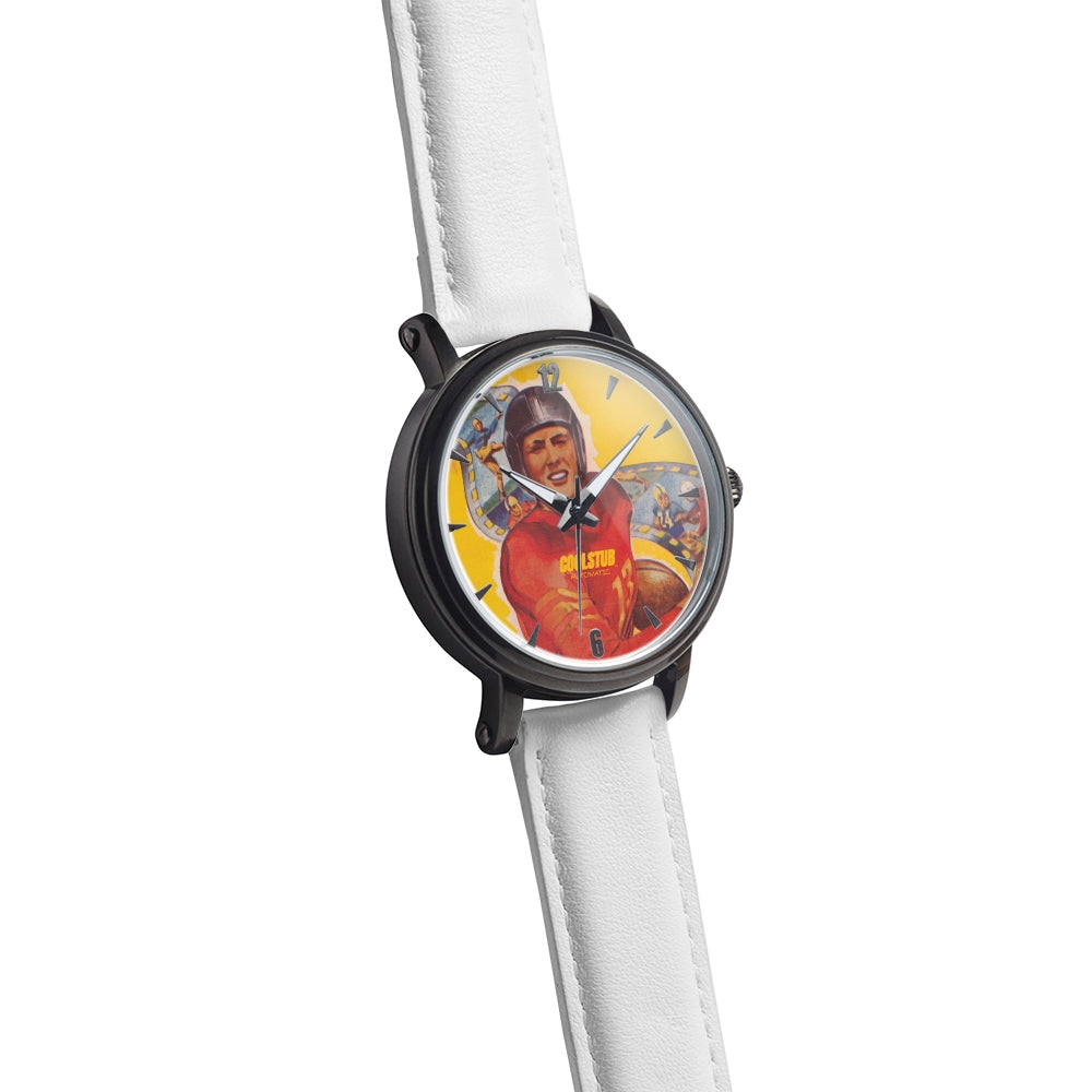 1950 Football Star Watch (White Leather)