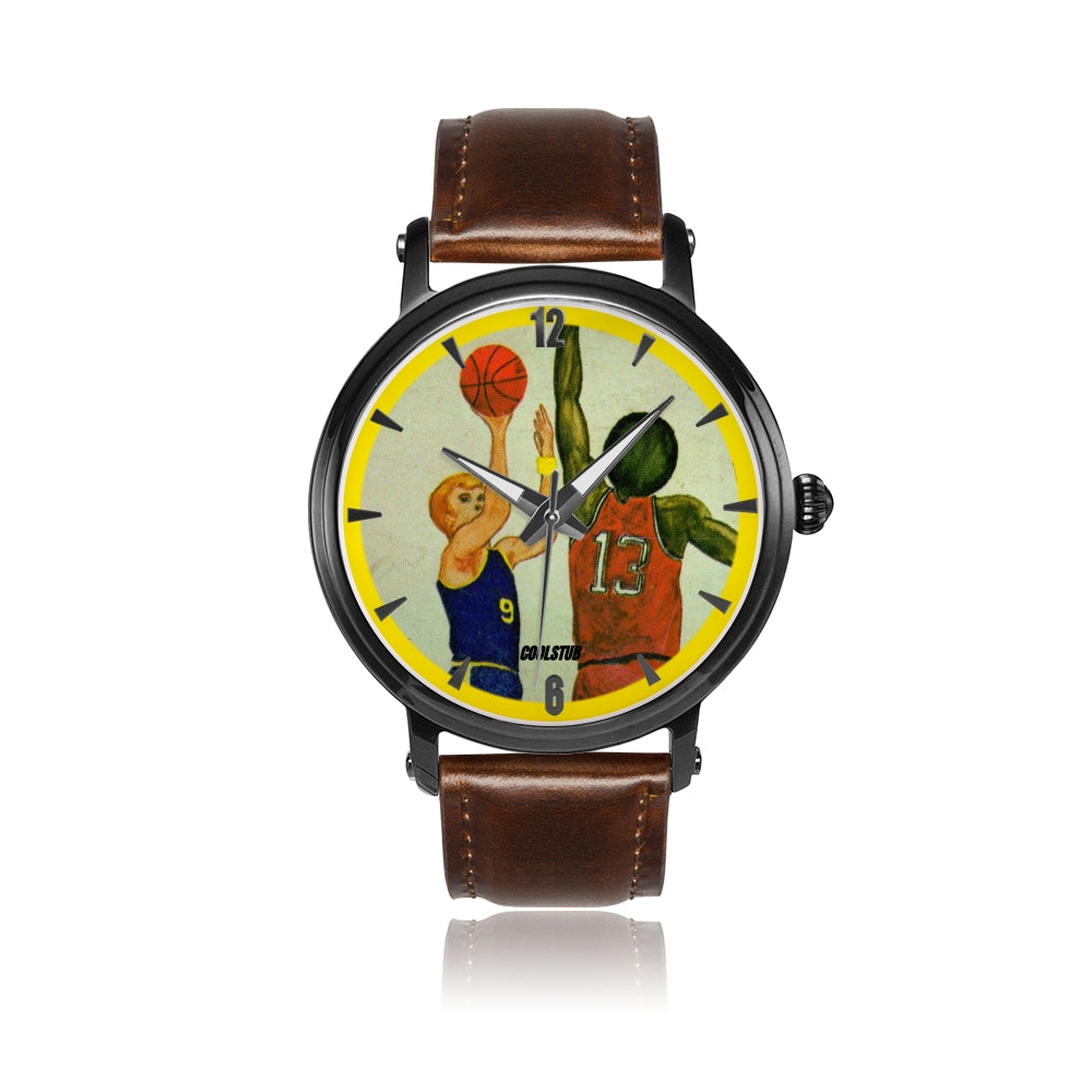 '73 Jump Shot Watch (Brown Leather)
