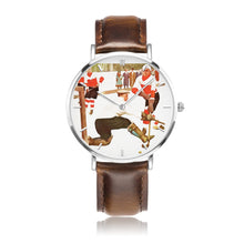 "Load image into Gallery viewer, ""Icy Day"" Coolstub™ Vintage Hockey Art Watch"