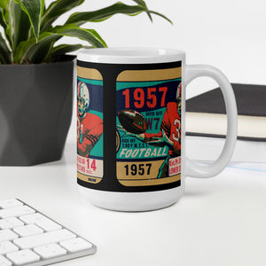 1957 Football Ticket Mug