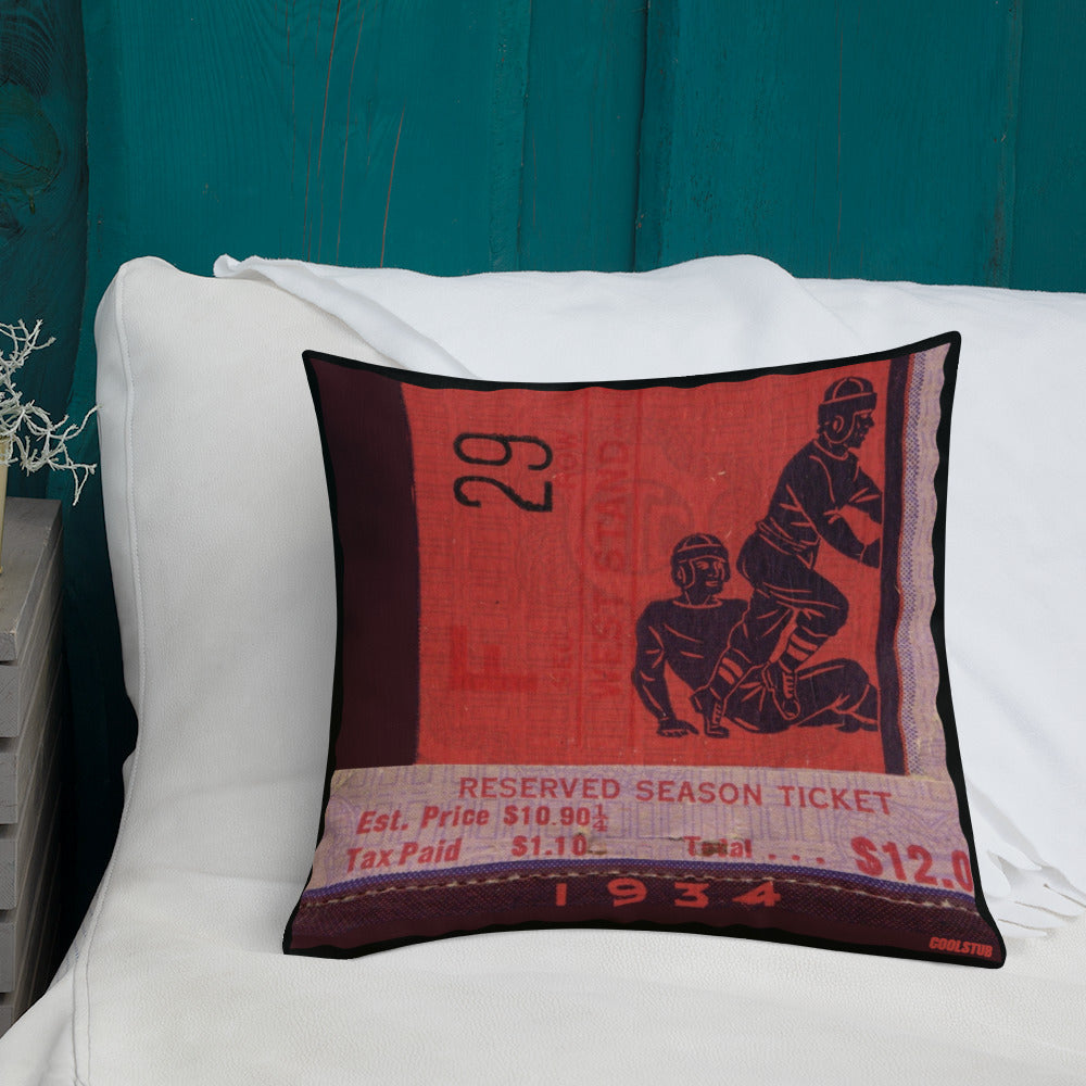 '34 Football Season Ticket Pillow