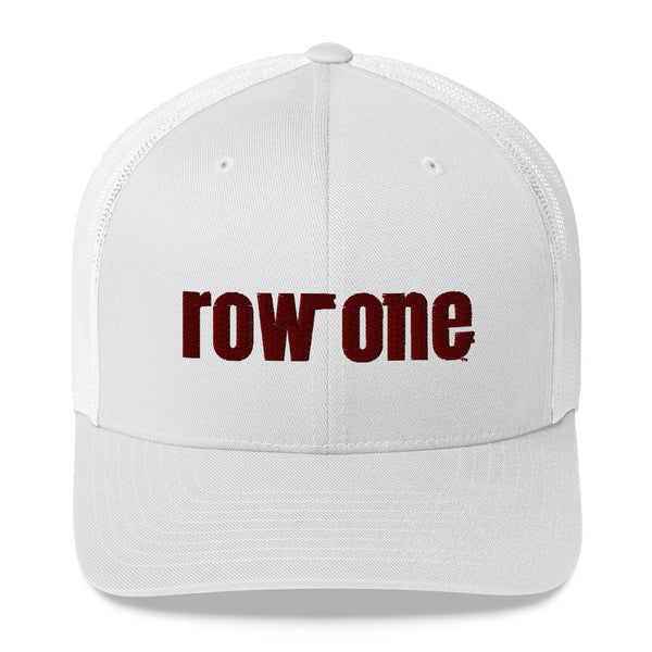 row one hat: row one brand retro trucker hat (crimson)