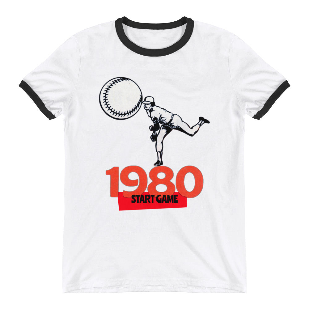 1980 Baseball START GAME Ringer T-Shirt