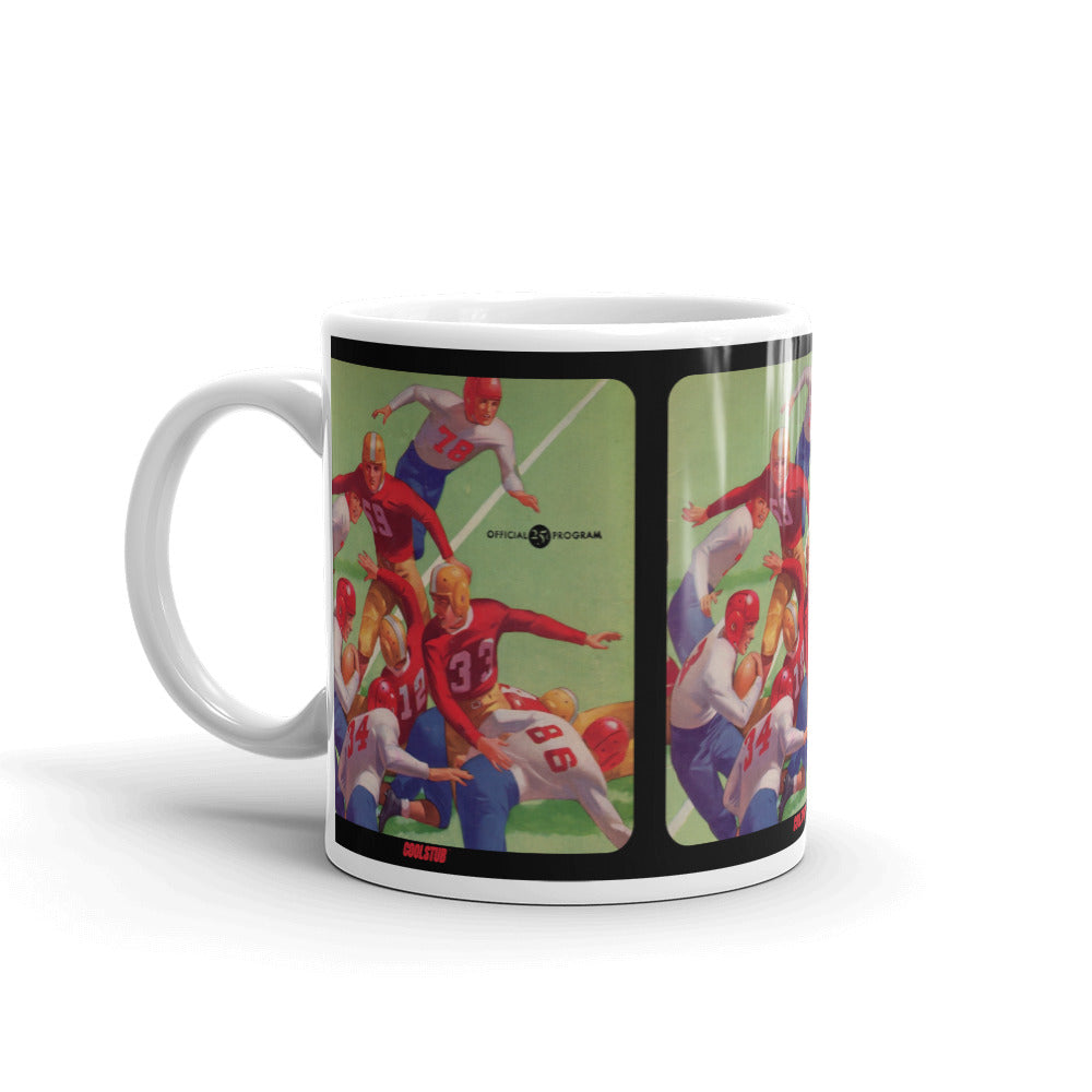 1945 Football Program Art Mug
