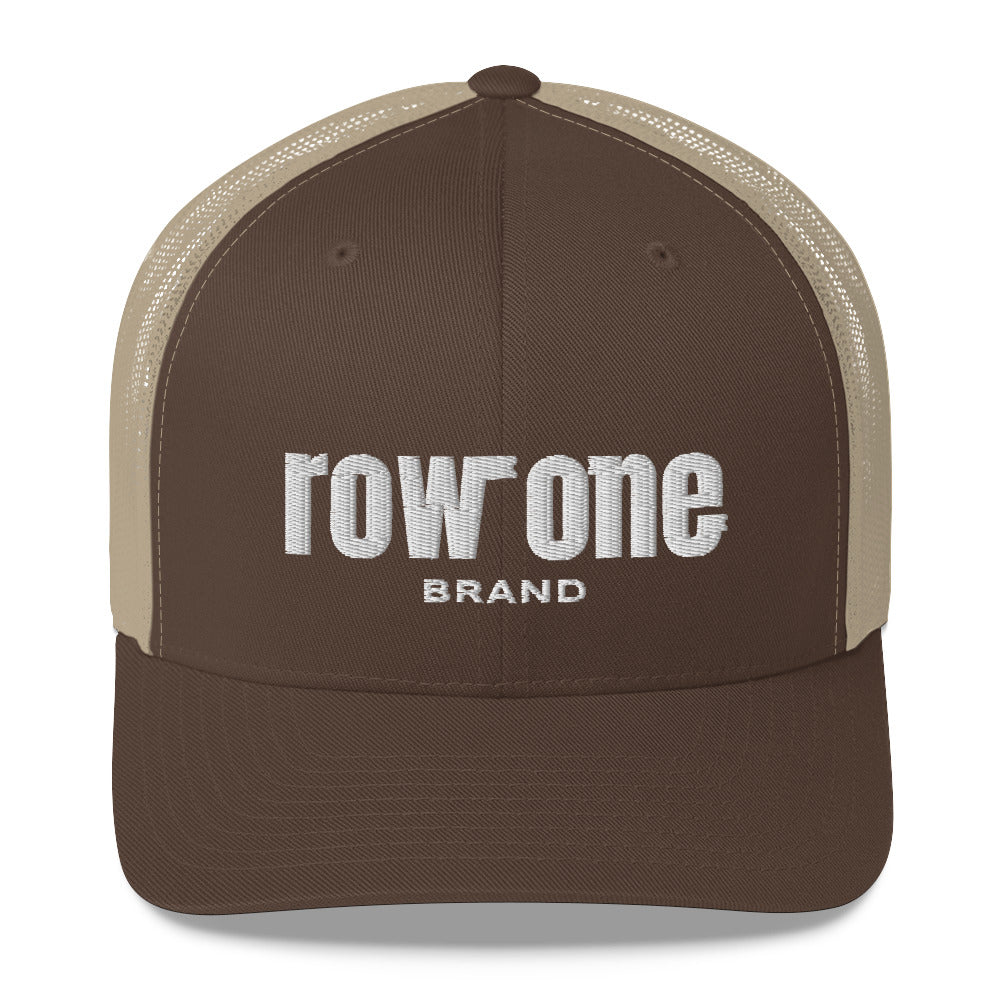Row One Brand Rustic, Orange, White Trucker Hats