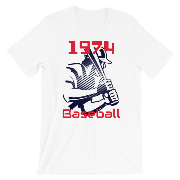 Coolstub™ 1974 Retro Baseball Short-Sleeve Unisex T-Shirt