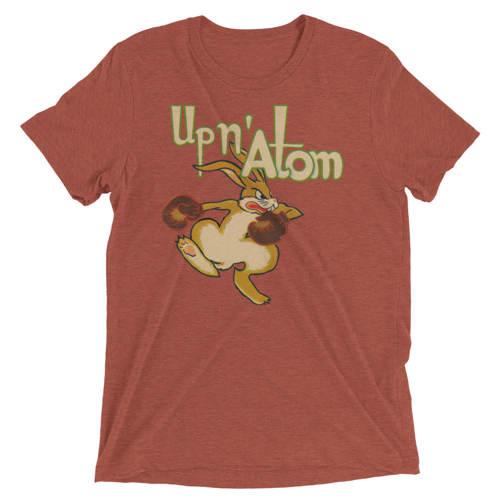 """Up N' Atom"" 1940's Boxing Rabbit short sleeve t-shirt by Coolstub™"
