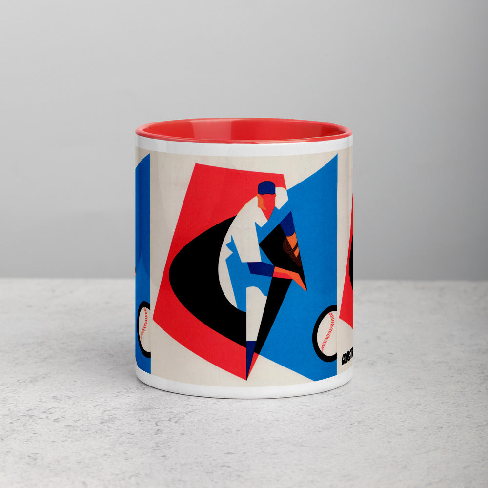 1965 Baseball Mug with Color Inside