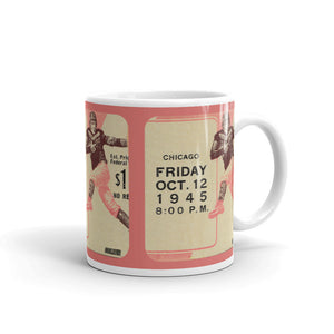 1943 Football Ticket Stub Mug