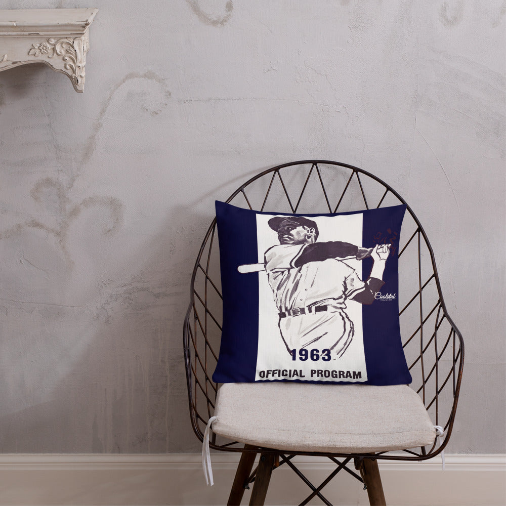 1963 Baseball Program All-Over Print Premium Pillow Case w/ stuffing