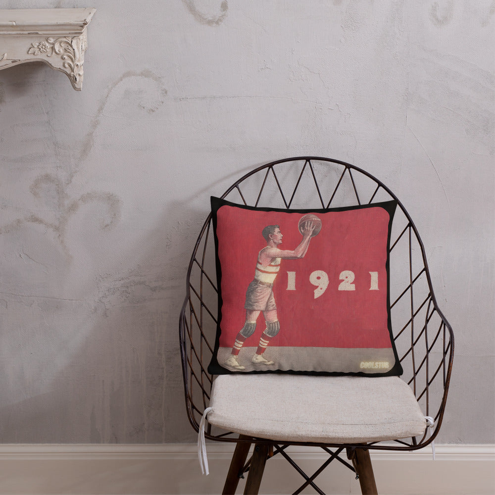 Vintage Basketball Premium Pillow (1921)