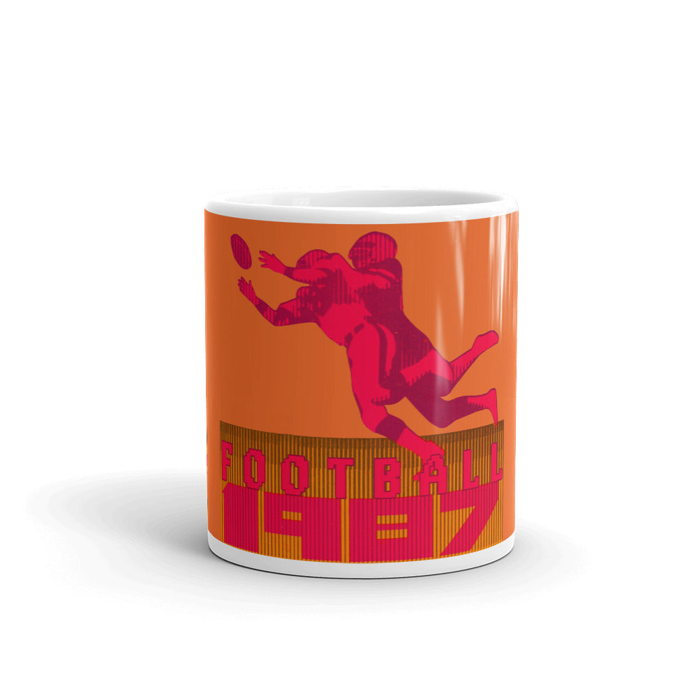 '87 Retro Football Mug (Orange)