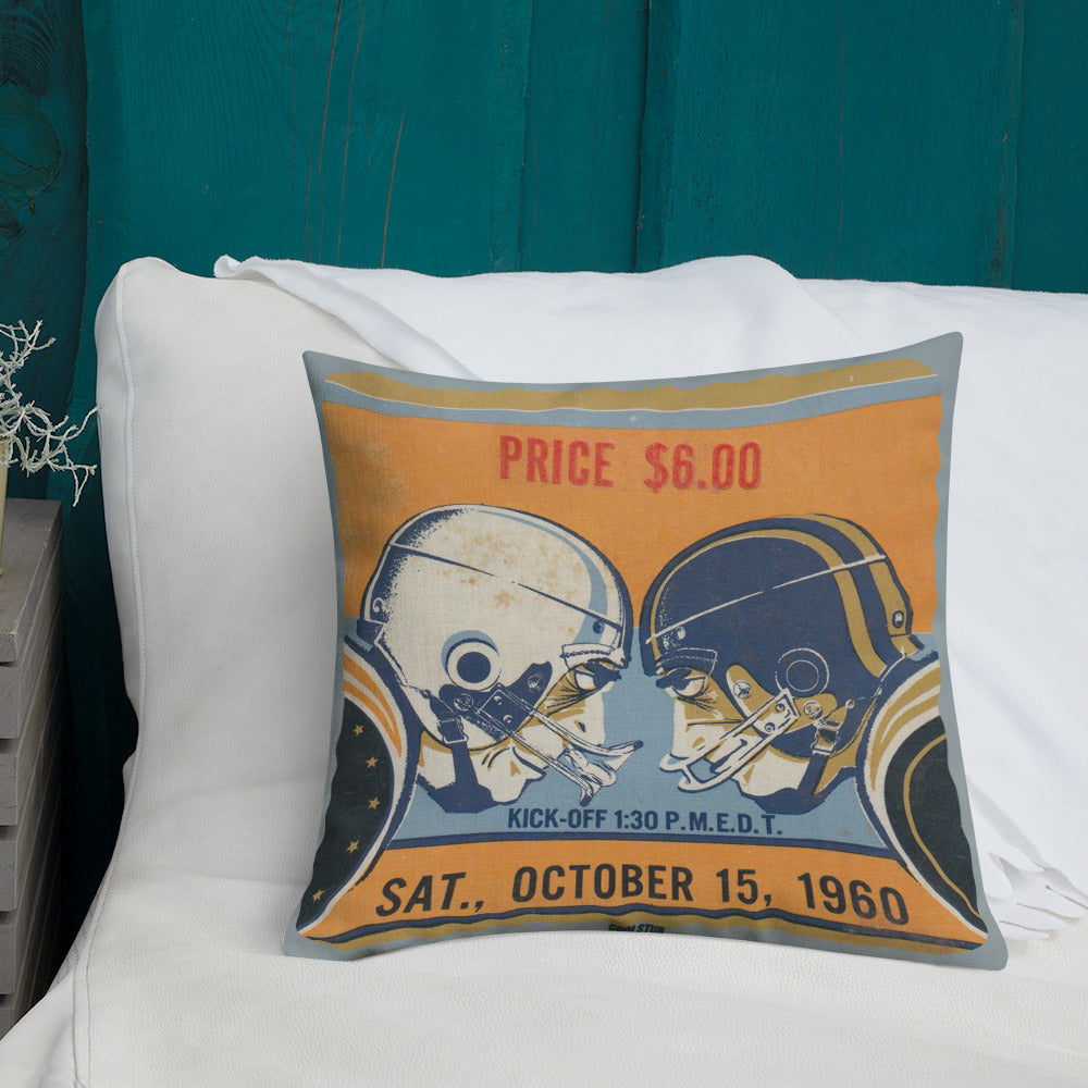 '60 Football Ticket Stub Premium Pillow