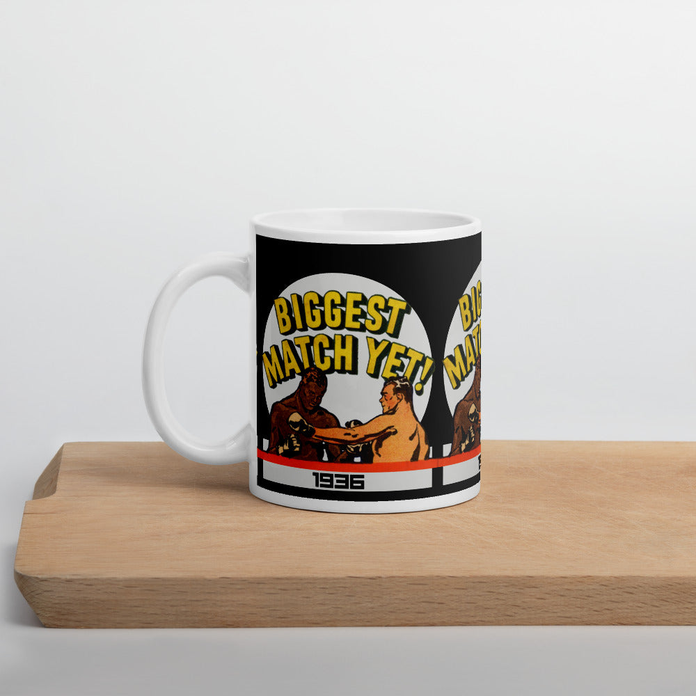 Vintage Boxing Art Mug (1936)